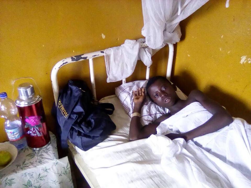 Daniel était dans un état inquiétant et souffrait de la malaria cérébrale